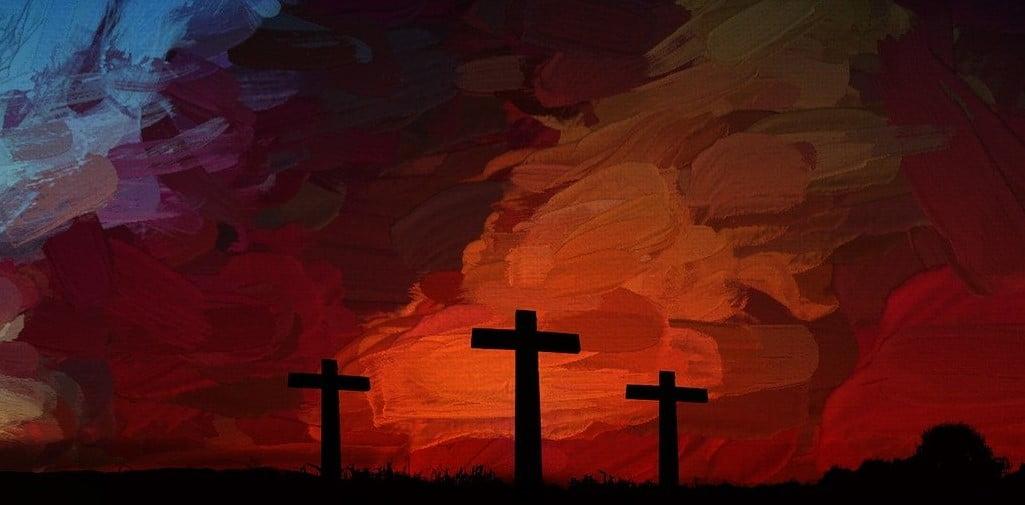 cross jesus risen king christ pray father