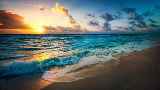 beach ocean shore depths water sun ocean